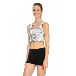 Top Cropped Atma - B&W Mandala